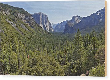 The Yosemite Valley Wood Print by Sebastien Coursol
