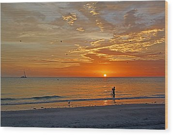 Wood Print featuring the photograph The Young Fisherman by HH Photography of Florida