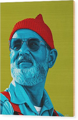 The Zissou- Background Edit Wood Print by Ellen Patton