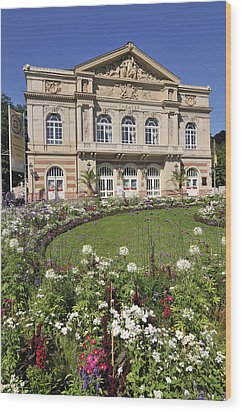 Theater Building Baden-baden Germany Wood Print by Matthias Hauser