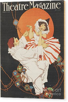 Theatre Magazine 1920s Usa Pierrot Wood Print by The Advertising Archives