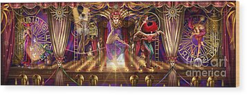 Theatre Of The Absurd Triptych  Wood Print by Ciro Marchetti