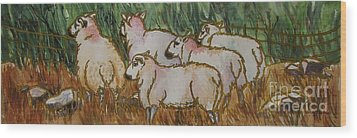 The_grass_is_greener Wood Print by Nancy Newman
