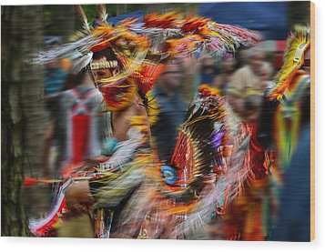 Their Spirit Is Among Us - Nanticoke Powwow Delaware Wood Print