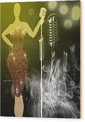 Thejazzsingerchic Wood Print by Romaine Head
