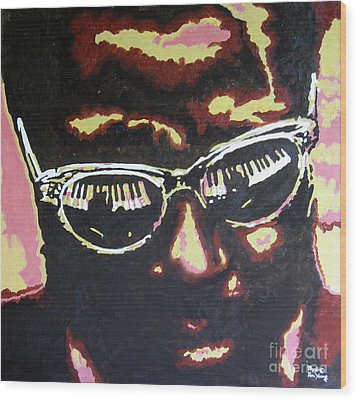 Thelonius Monk Wood Print by Ronald Young
