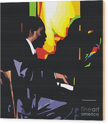 Thelonius Monk Wood Print by Walter Oliver Neal