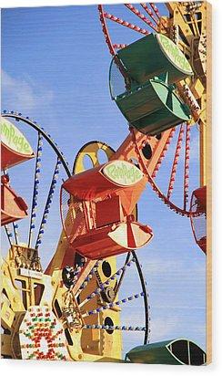Theme Park Ride Wood Print by Valentino Visentini