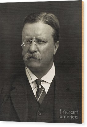 Theodore Roosevelt Wood Print by Unknown