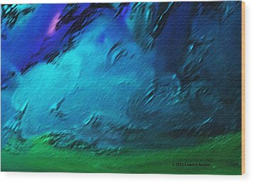 There Is Always Sky Wood Print by Lenore Senior