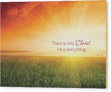 Colossians 3 Wood Print