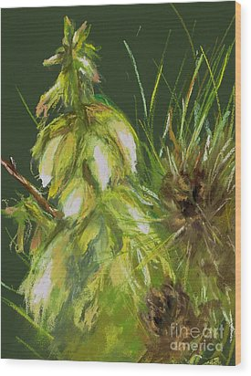 Theres A Yucca In My Yard Wood Print by Frances Marino
