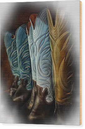 These Boots Are Made For Anything Wood Print by Lucinda Walter