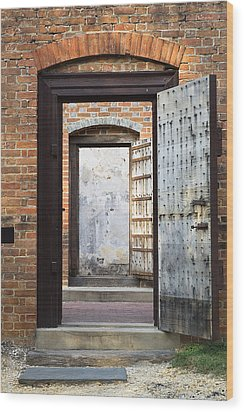 These Doors Lead To Nowhere Wood Print