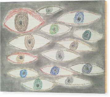 They Are Watching You Wood Print by Judith Moore