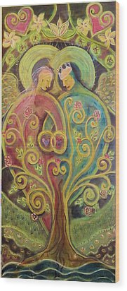 They Grow In Love Wood Print by Deborah Carlson