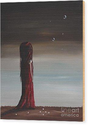 They Say She's A Dreamer By Shawna Erback Wood Print by Shawna Erback