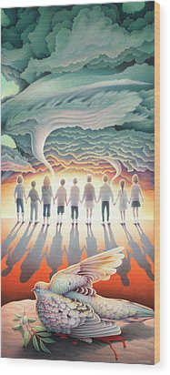 They Stand Resolute Wood Print by Amy S Turner