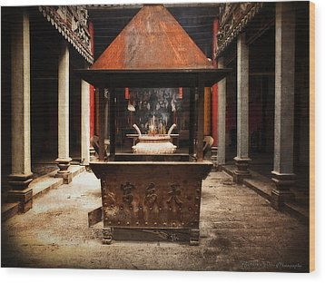 Wood Print featuring the photograph Thien Hau Temple  by Lucinda Walter