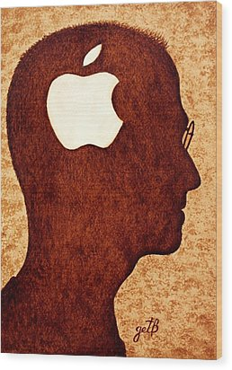 Think Different Tribute To Steve Jobs Wood Print