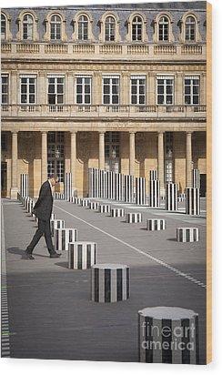 Thinking - At Palais Royal Wood Print by Brian Jannsen