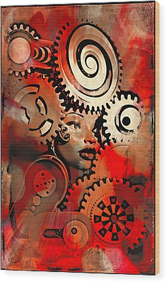 Thinking Cap 2 Wood Print by Jeff  Gettis