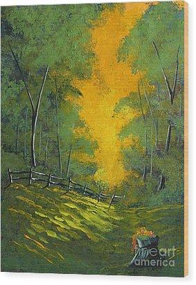 Thinking Green Wood Print by Steven Lebron Langston