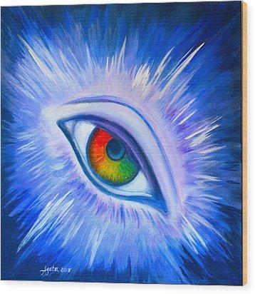 Third Eye Diamond Wood Print