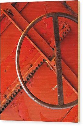 Third Wheel Wood Print by Tom Druin