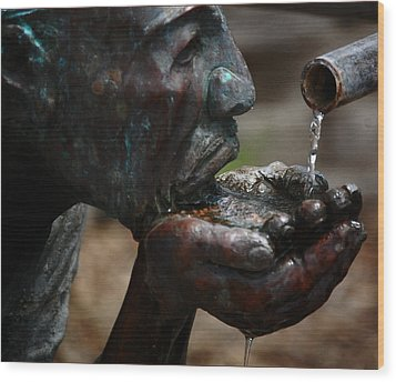 Wood Print featuring the photograph Thirst Quencher by Leticia Latocki
