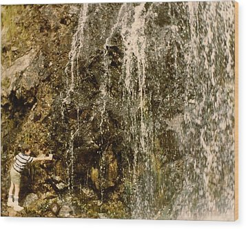 Wood Print featuring the photograph Thirsty by Amazing Photographs AKA Christian Wilson