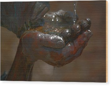 Wood Print featuring the photograph Thirsty by Leticia Latocki