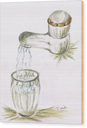 Wood Print featuring the painting Thirsty Of Water by Teresa White
