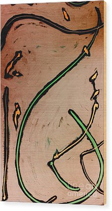 Wood Print featuring the painting Thirteen by Jacqueline McReynolds