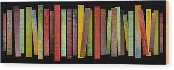Thirty Stripes 1.0 Wood Print by Michelle Calkins