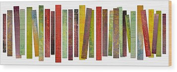 Thirty Stripes 2.0 Wood Print by Michelle Calkins