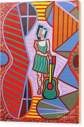 This Guitar Is More Than An Instrument Wood Print by Patrick J Murphy