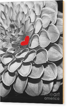 This Heart Is For You Wood Print by Sabrina L Ryan