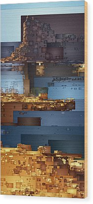 This Is Lake Powell Wood Print by David Hansen