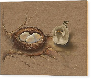 This Is My Nest? Wood Print
