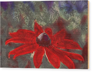 This Is Not Just Another Flower - Spr01 Wood Print by Variance Collections