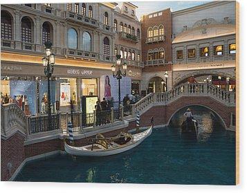 It's Not Venice - The White Wedding Gondola Wood Print