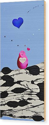 Wood Print featuring the painting This Is So Fun by Christine Ricker Brandt