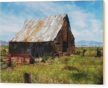 This Old Barn Wood Print