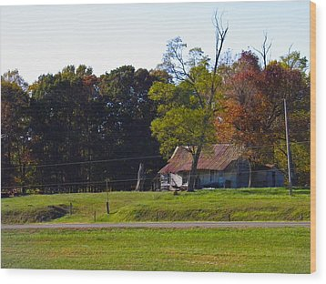 Wood Print featuring the photograph This Old House by Nick Kirby