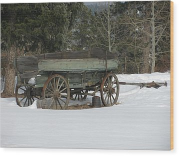 This Old Wagon Wood Print by Steven Parker