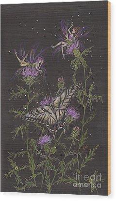 Thistle Wood Print by Dawn Fairies