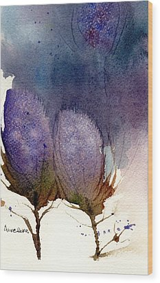 Wood Print featuring the painting Thistle Weather by Anne Duke
