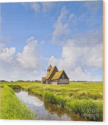 Thomas A Becket Church Romney Marsh Wood Print by Colin and Linda McKie