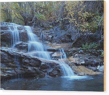 Thomas Creek Falls Wood Print by Jenessa Rahn